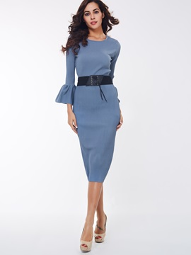 Office Lady Falbala Sleeve 2-Piece Sets