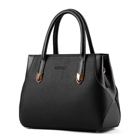 Patch Work Solid Women's Handbag