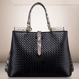 Vogue Knitted Embossed Women Satchel