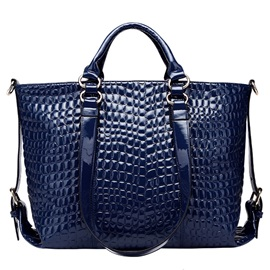 All Match Croco-Embossed Motorcycle Women Satchel