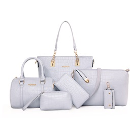 Fashion Crocodile Embossing Women Bag Set(6 pieces)