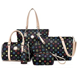 Vintage Pattern Printed Women's Bag Set ( Six Bags )