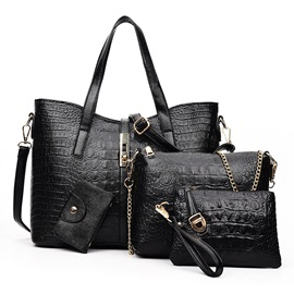 New Croco-embossed Women's Bag Set ( Four Bags )