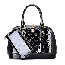 Classic Pattern Embossing Women's Shell Bag Set ( Two Bags )