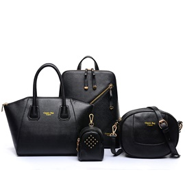 Special Design Pure Color Women's Bag Set ( Four Bags )