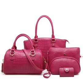 Fashion Pattern Embossing Women's Bag Set ( Five Bags )