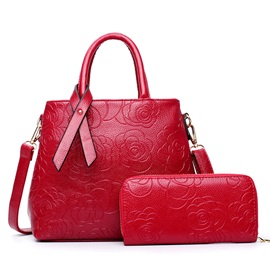 Fashion Flower Embossing Women's Bag Set ( Two Bags )