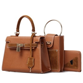 Vintage Frosting Leather Elegant Tote Bag Sets