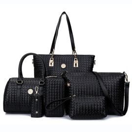 Charming Knitted Work Quality PU Bag Sets