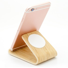 Wood Material Sucked Mobile Phone Holder For iPhone/Ipad