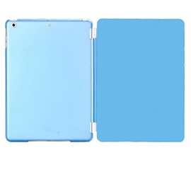 Slim Smart Soft PU Leather Cover Hard Translucent Plastic Shell with Sleep Bracket for Ipad Air