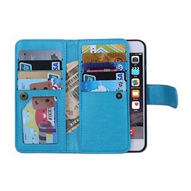 Magnetic 2 in 1 Wallet Leather Card Holder Cash Slot Photo Frame Case for iPhone 6s 6 Plus