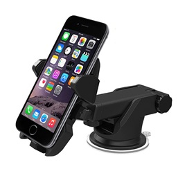 For Samsung/HTC/Lenovo/Huawei Long Rod Automatic Lock Mobile Phone Holder Car Navigation Support Suction Type Instrument Shelf