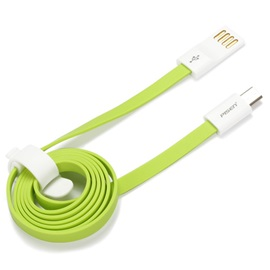 Pisen Flat Short 5Pin Micro USB Data Charger Cable Cord