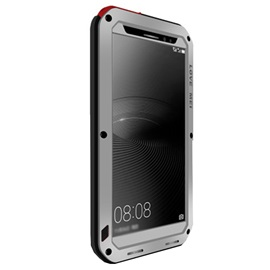 For HUAWEI Mate 8 Case Waterproof Shockproof Aluminum Back+ Tempered Glass Cover