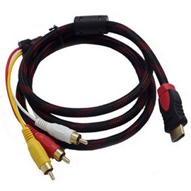 HDTV HDMI Male to 3 RCA Audio Video AV Cable Cord Adapter