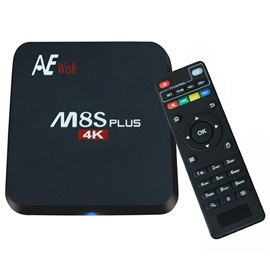 M8S+ TV Box Smart 4K 2G/16G WIFI Full HD Android Media Player