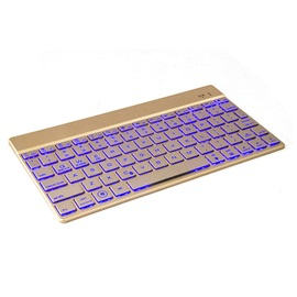 Wireless Bluetooth 3.0 Keyboard Ultra Slim Aluminium LED Backlight Keyboard Suit Android Windows IOS Devices