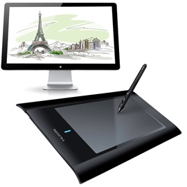 HUION W58 8-inch 2048 Levels USB Wireless Tablet Professional Art Graphics Drawing Digital Painting Tablet