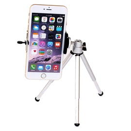 Silver Aluminum Alloy Tripod For Digital Camera/Mobile Phone