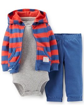 Casual Fashion Sweatshirts Letter Printed Romper Three-Piece Boys' Outfit