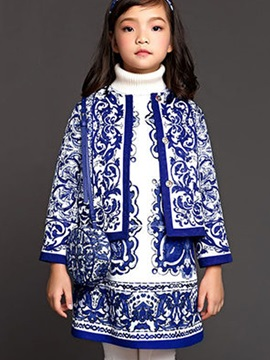 Stylish Printing 2-Piece Girl's Outfit