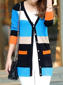 Sylish Color Block Cardigan