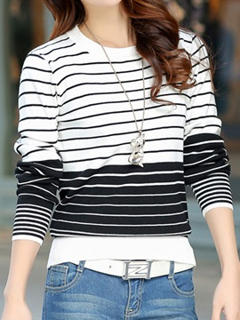 Casual Stripe Short Sweater