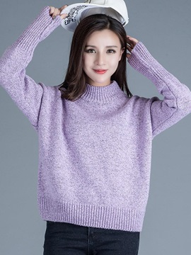 Simple Multi Color Loose Sweater