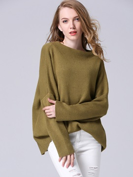 Simple Solid Color Loose Sweater