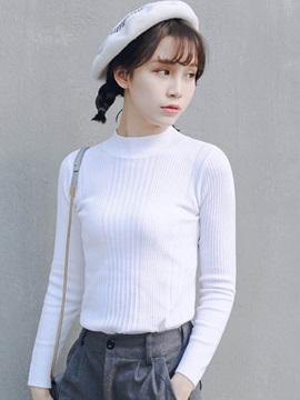 Simple Plain Bottoming Sweater