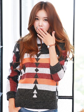 Stylish Jacquard Warm Sweater
