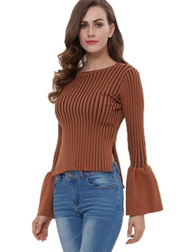 Stylish Flare Sleeve Short Sweater