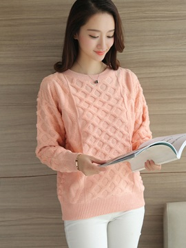 Sweet Round Neck Loose Sweater
