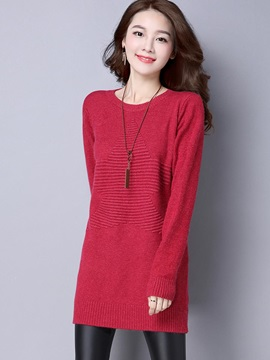 Stylish Round Neck Loose Sweater