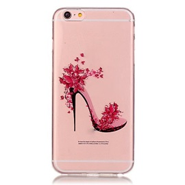 For iPhone 6/6 Plus/6S/6S Plus Transparent Colored High-Heeled Shoes Pattern TPU Soft Case Phone Case