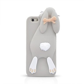 3D Cartoon Bunny Silicone Back Case for iPhone 6S 6 Plus