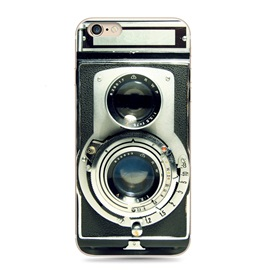 Vintage Camera Pattern Silicone Relief Case for Iphone6/6s plus