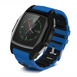 Unisex Square Stainless Steel Case Synthetic Leather Band 0.3 MP Camera Pixels All Compatible Smart Watch