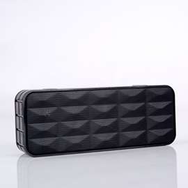 New Stereo Portable Mini Bluetooth Speaker Metal Steel Wireless Smart Hands Free Speaker with Fm Radio Support Sd Card