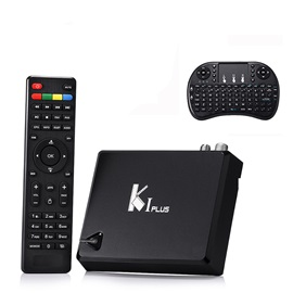 K1 PLUS S2 T2 TV Box Amlogic S905 Quad Core 64-bit Support DVB-T2 DVB-S2 1G+8G 1080P 4K Android TV Box