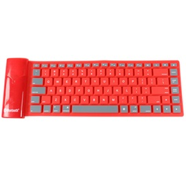 Topdcy Foldable Waterproof Universal Portable Bluetooth Wireless Soft Silicone Keyboard