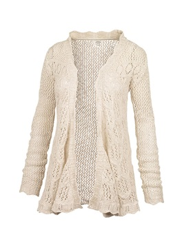 Tidebuy Crochet Without Buttons Cotton Cardigan