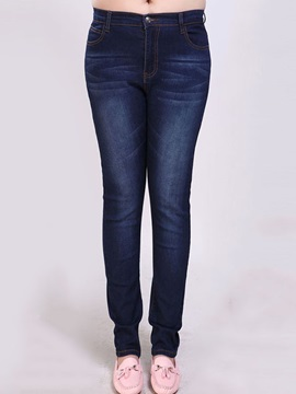 Plus Size Slim Elastic Pencil Jean
