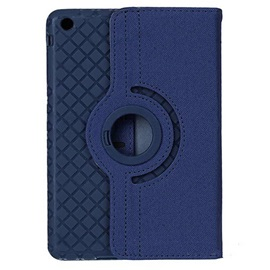 360 Degrees Rotating Grid Pattern PU Leather Case For iPad Air