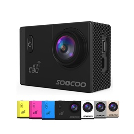 SOOCOO C30 Action Camera Wifi 4K Adjustable Viewing Angles 30M Waterproof Sports Camera