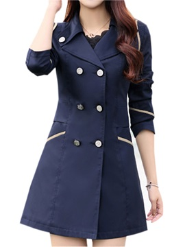 Korean Style Double Breasted Slim Trench Coat