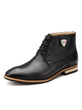 Pointed Toe Lace-Up Men's Boots