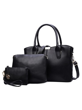 Simple Style Pu Women's Bag Set ( Three Bags )