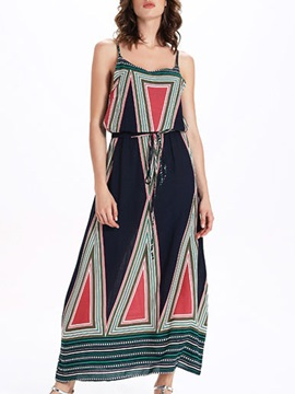 Sisjuly® Print Sleeveless Maxi Dress